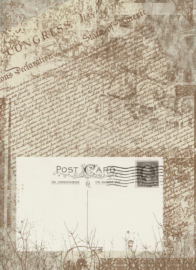 Carte postale de cru illustration libre de droits