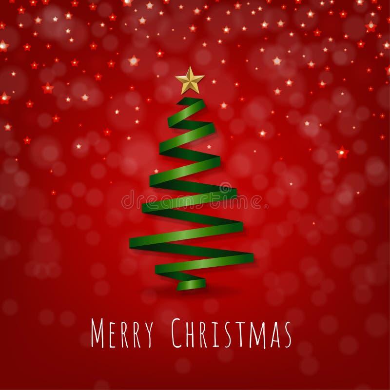 Carte postale de Joyeux Noël illustration libre de droits