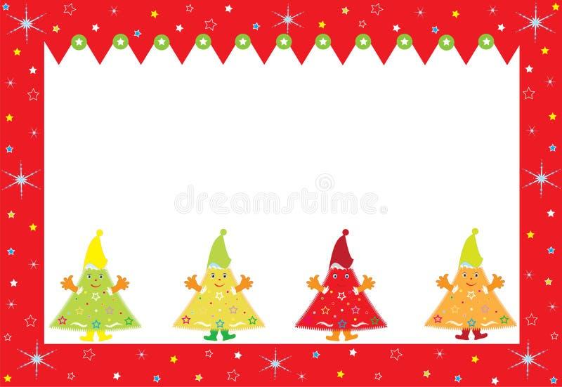 Carte postale de Joyeux Noël illustration de vecteur