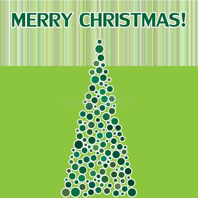 Carte postale de Joyeux Noël avec le sapin illustration libre de droits