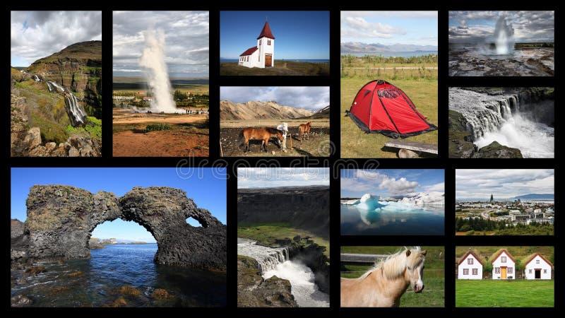 Carte postale de l'Islande image stock