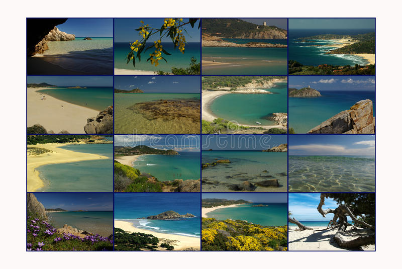 Carte postale de la Sardaigne photo libre de droits