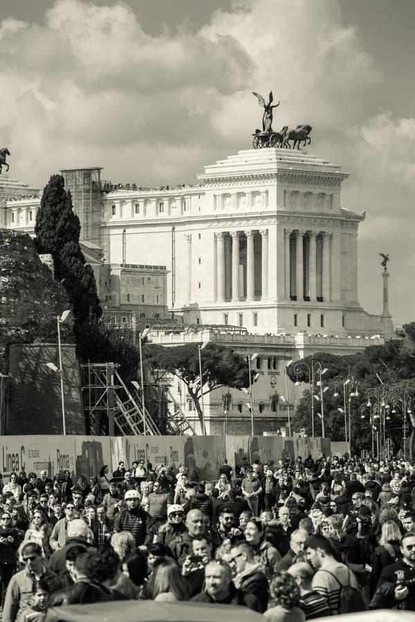 Carte postale de la ville de Rome, Italie monument photo stock