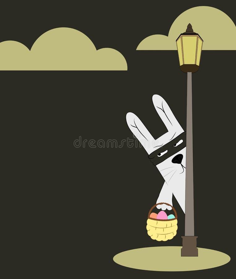 Carte postale de lapin de Pâques illustration libre de droits