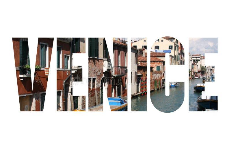 Carte Postale De Mot De Venise Photo stock - Image du fond, place: 90890198