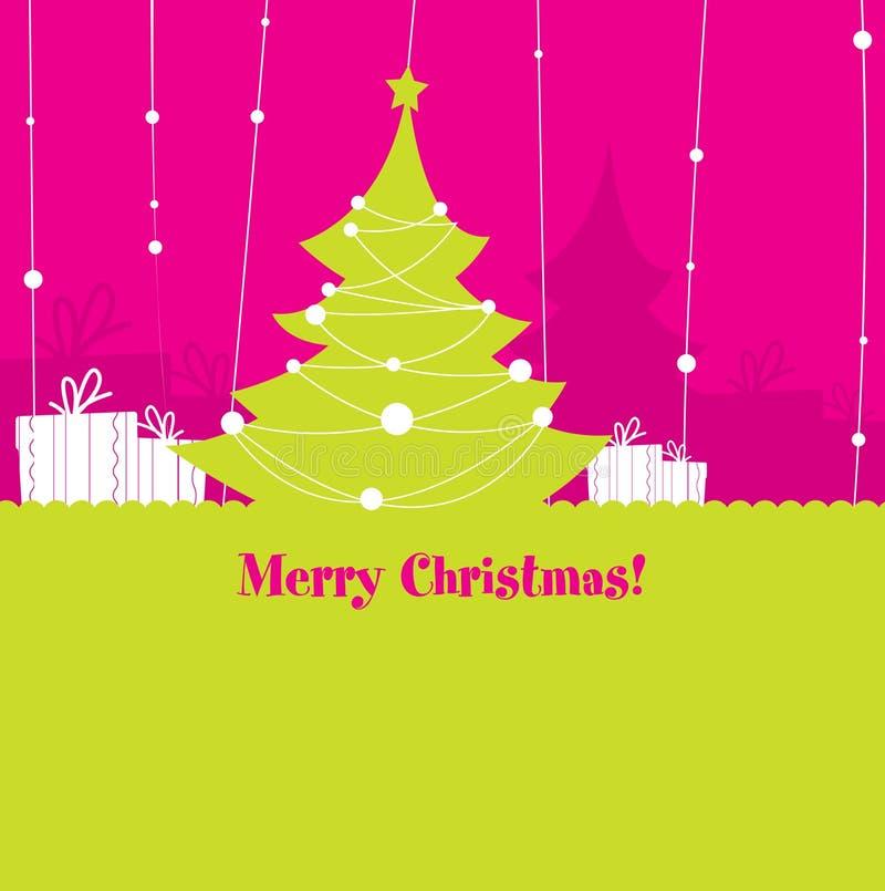 Carte postale de Noël illustration libre de droits
