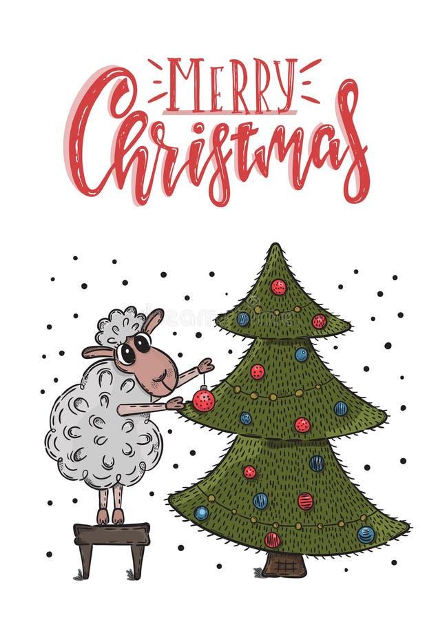 Carte postale de Noël de vecteur illustration libre de droits