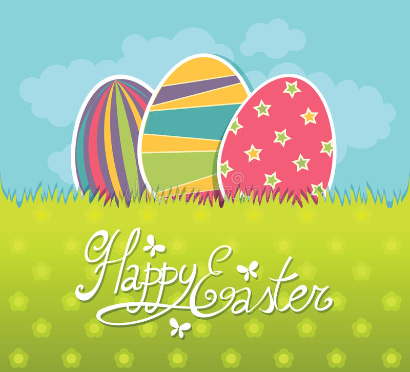 Carte postale de Pâques illustration stock