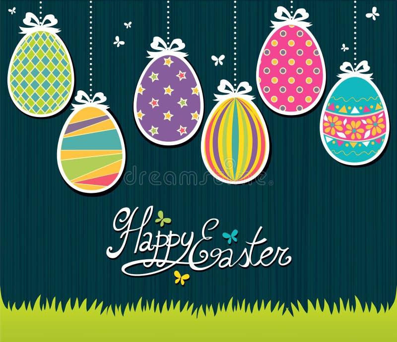 Carte postale de Pâques illustration libre de droits