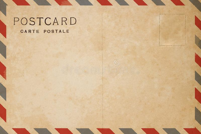 Carte postale de par avion photos stock