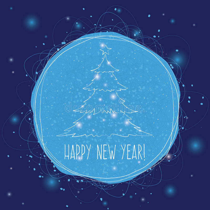 Carte postale de place de nouvelle année image stock