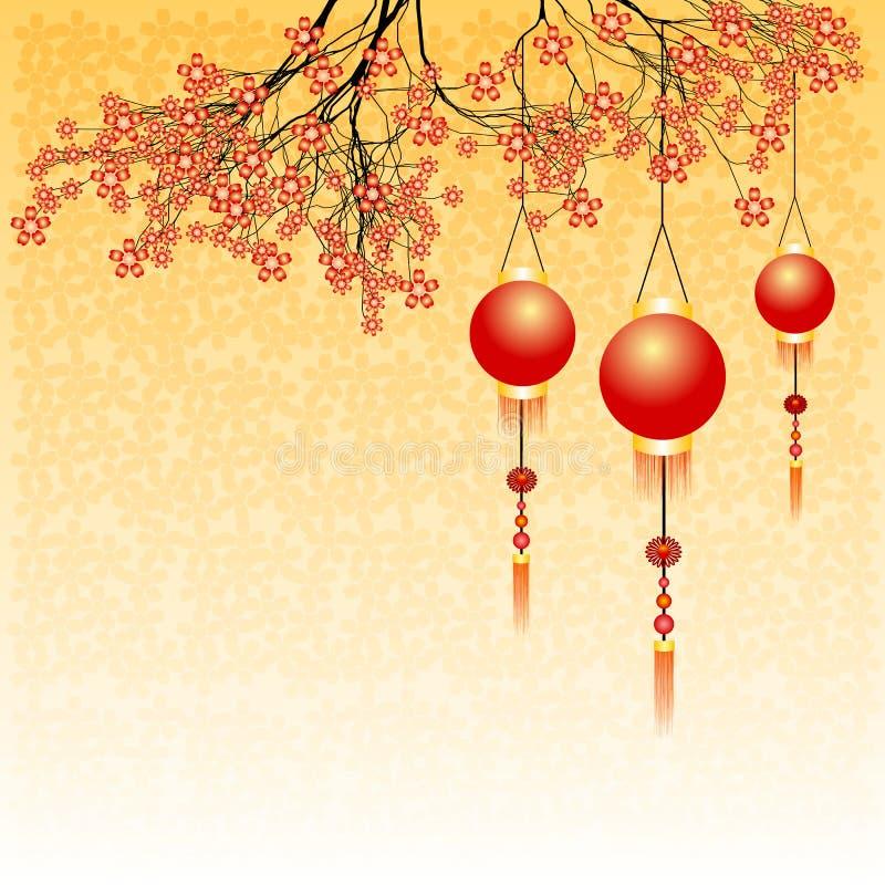 Carte postale de vacances à la nouvelle année chinoise 2015 images libres de droits