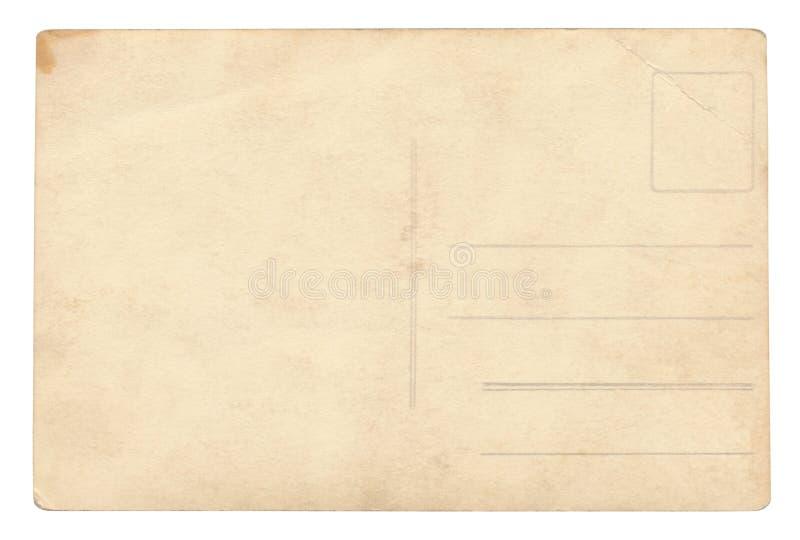 Carte postale de vintage - d'isolement image libre de droits