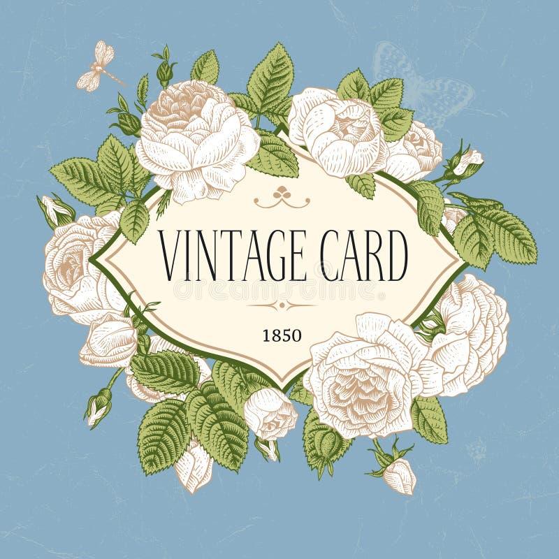 Carte postale de vintage de vecteur. illustration stock