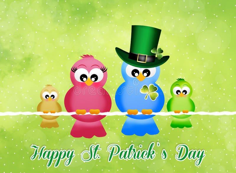 Carte postale du jour de St Patrick illustration stock