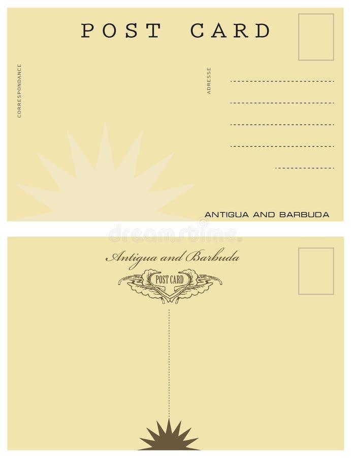 Carte postale en Antigua-et-Barbuda illustration de vecteur