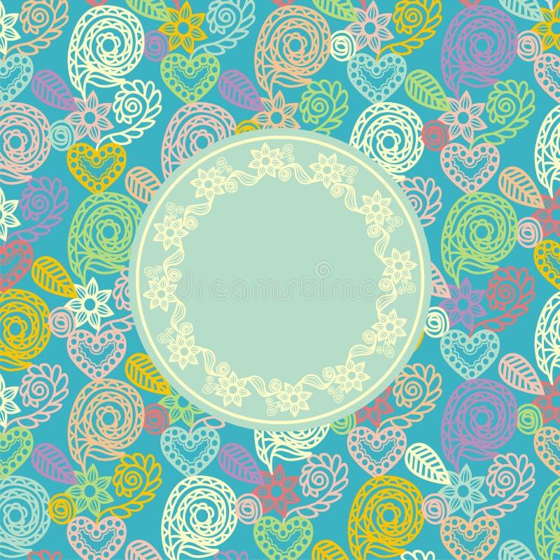 Carte postale florale de vecteur illustration libre de droits