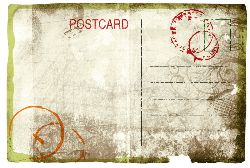 Carte postale grunge illustration libre de droits