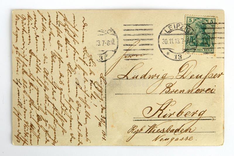 lettre vintage Carte Postale Grunge De Vintage Avec La Lettre D'écriture Avec Des  lettre vintage