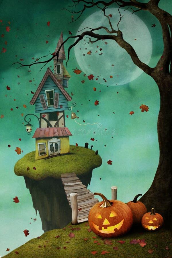 Carte postale Halloween illustration de vecteur