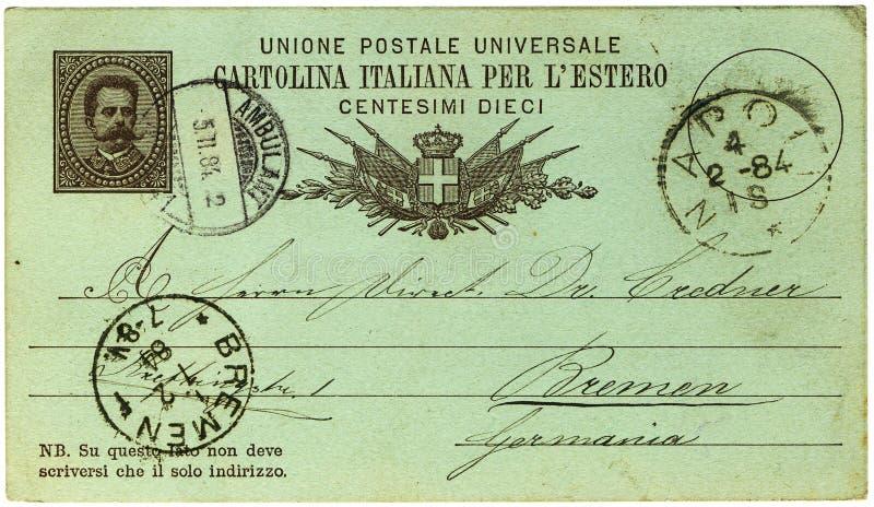 Carte postale italienne antique photographie stock libre de droits