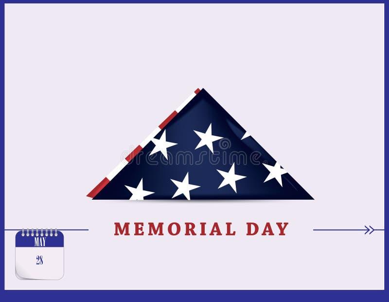 Carte postale Memorial Day illustration de vecteur
