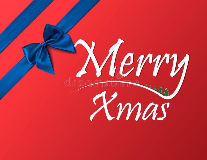 Carte postale ou invitation aux vacances de Noël et de nouvelle année Calibre d'insecte de fête de Noël Écran protecteur illustration de vecteur