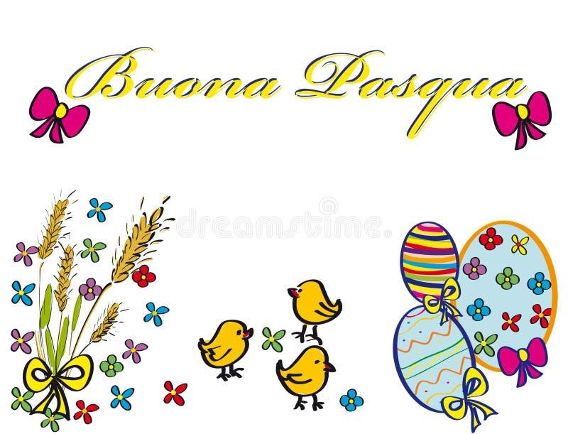 Carte postale Pâques photos libres de droits