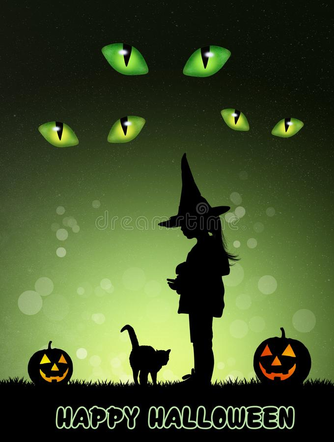 Carte postale pour Halloween illustration libre de droits
