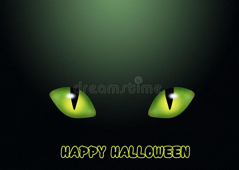 Carte postale pour Halloween illustration de vecteur