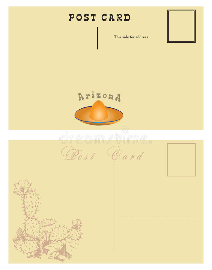 Carte postale pour l'Arizona illustration libre de droits
