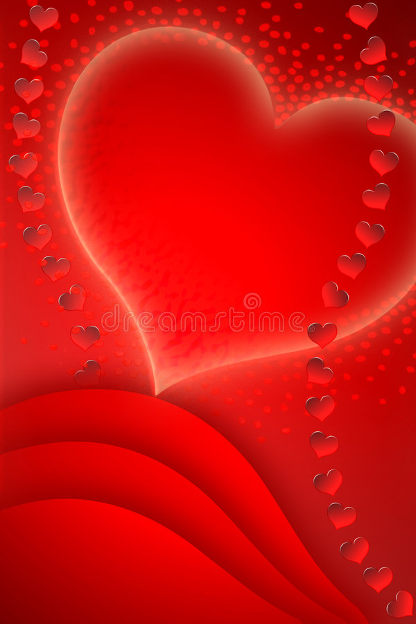Carte postale pour le jour à marquer d'une pierre blanche de Valentine illustration stock