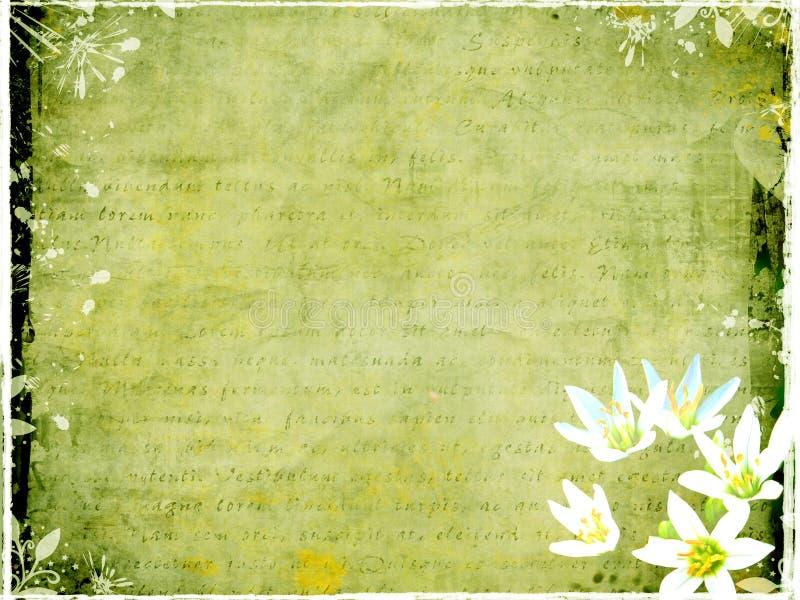 Carte postale sale avec les éléments floraux illustration libre de droits