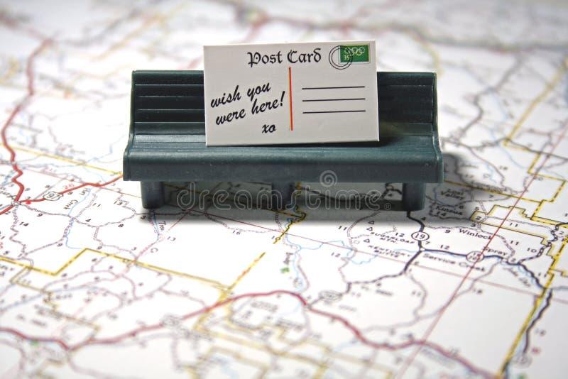 Carte postale - souhait vous étiez ici photographie stock libre de droits