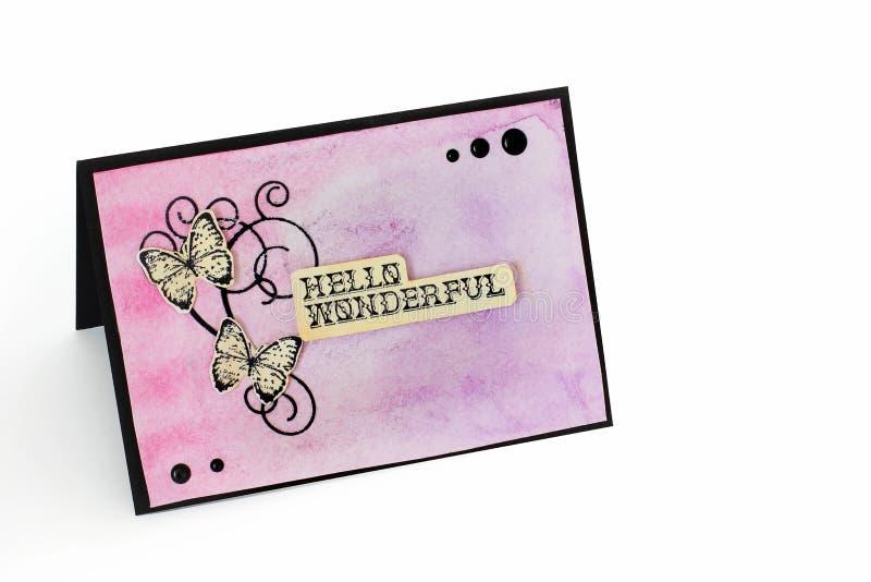 Carte postale sur un fond blanc illustration libre de droits