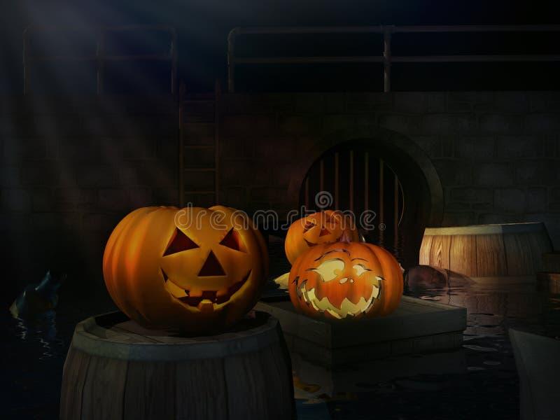 Carte pour Helloween images libres de droits
