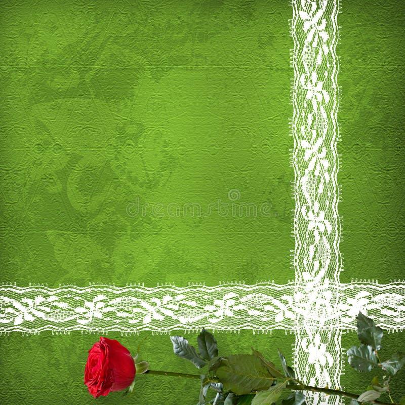 Carte pour l'invitation avec le groupe de roses illustration stock