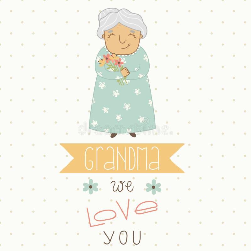 Carte pour la grand-maman illustration stock