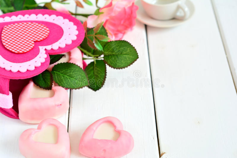 Carte pour la Saint-Valentin photo libre de droits