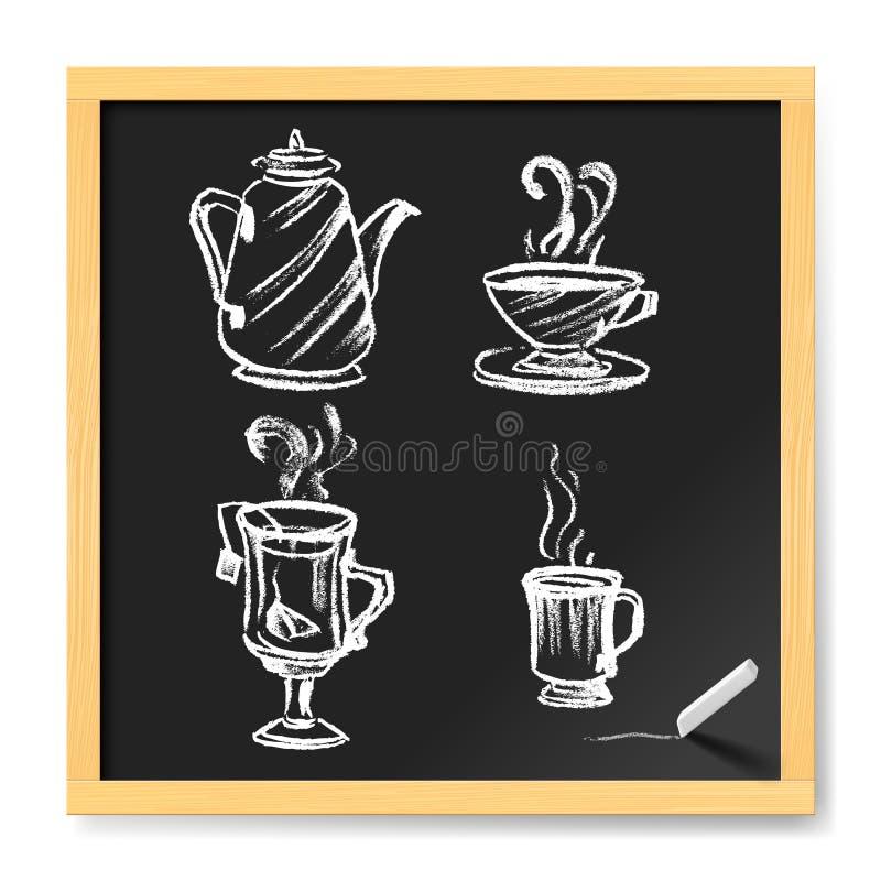 Carte pour le café illustration de vecteur