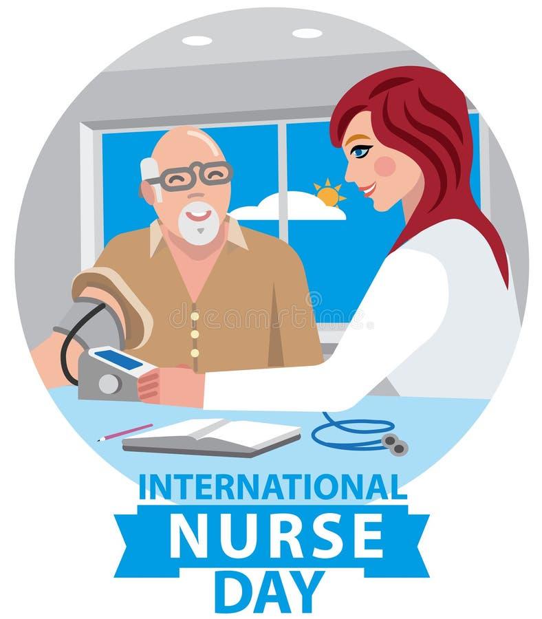 Carte pour le jour d'infirmière illustration libre de droits