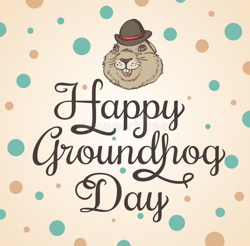 Carte pour le jour de Groundhog illustration stock