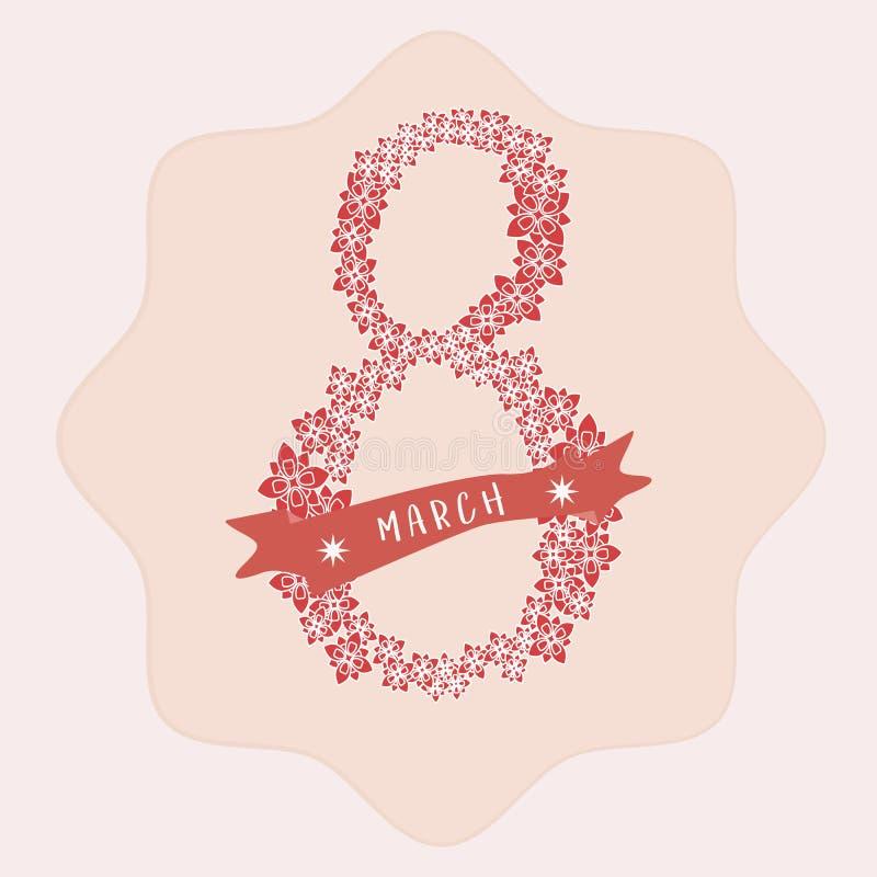 Carte pour le 8 mars Jour du ` s de femmes, ENV 10 images stock