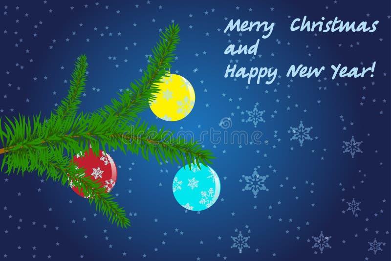 Carte pour Noël images libres de droits