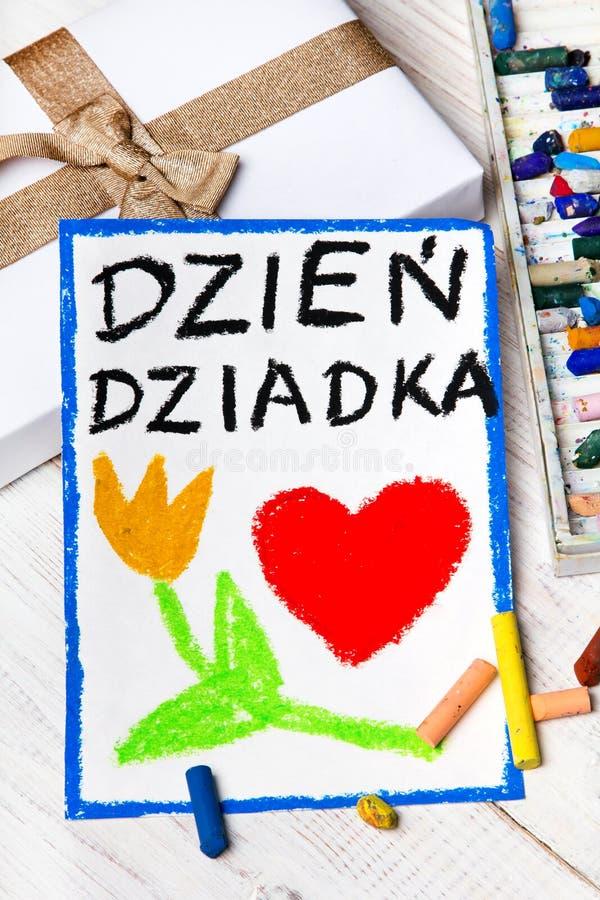 Carte première génération polonaise de jour du ` s avec des mots : Jour première génération du ` s photo libre de droits