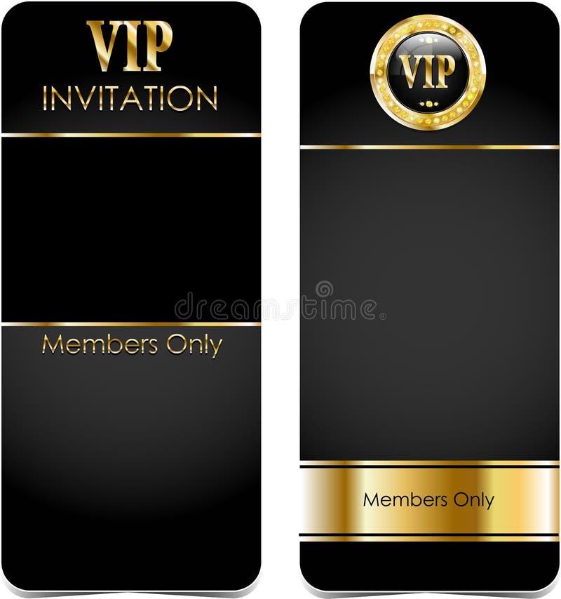 Carte premio di VIP illustrazione vettoriale