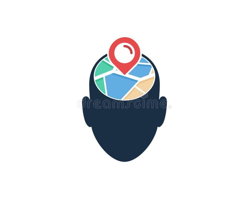Carte principale Logo Icon Design illustration stock