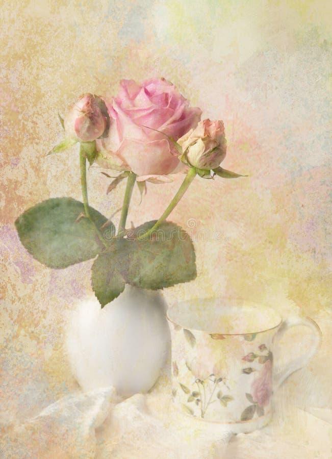 Carte romantique de fleur. image libre de droits