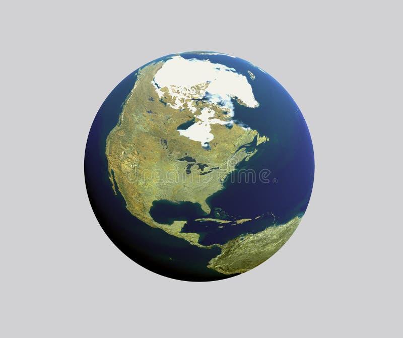 Carte ronde d'atlas illustration de vecteur