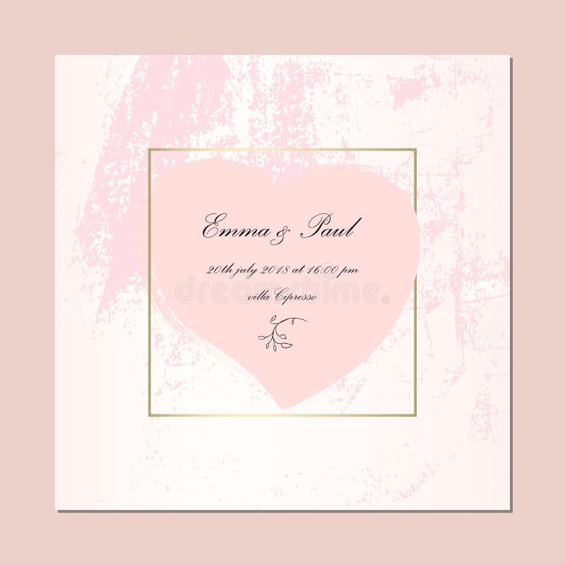 Carte rosa d'avanguardia dell'oro royalty illustrazione gratis